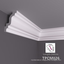 High Stability PU Decorative Cornice Moulding With Fashionable Styles