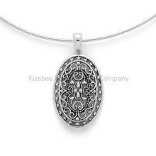 925 en argent sterling bijoux Antique style vintage pendentif (KP3009)