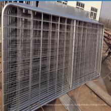Высокое качество оцинкованного железа металлические ворота проекты / фермы забор