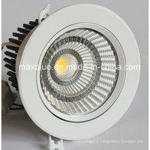 Taille du trou de coupe 140mm 30W 35W CREE / Epistar COB LED Downlights