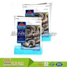 Customized Printed Heat Seal Three Side Sealed Food Packaging Plastic Frozen Shrimps Seafood Bags