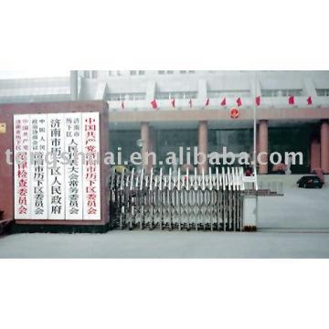 portão de aço stanless (controlado remoto)