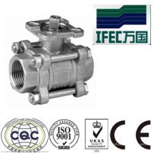 Válvula de bola sanitaria del acero inoxidable 3PC (IFEC-BV100013)