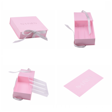 Pink Macarons Chocalate Gift Box Dengan Ribbon Closure
