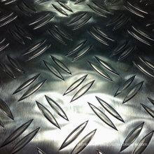 Checkered Aluminium Plate with 2 Bars