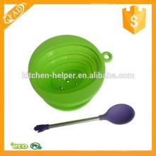 Colher de silicone portátil atraente colher de chá de café de silicone