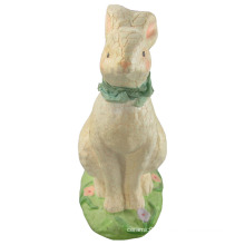 Animal Shaped Ceramic Rabbit for Easter Decoration