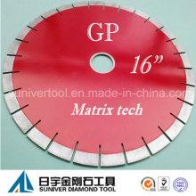 "GP 16 ""* 20 mm diamante matriz tecnologia Blade para granito"