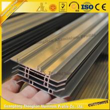 Perfil de alumínio revestido da extrusão do pó anodizado para a grelha / obturador exteriores