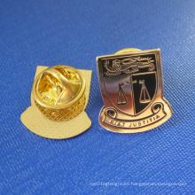 Pulsera plateada oro de la solapa, insignia de Justitia (GZHY-LP-032)