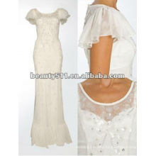 colummn /sheath luxurious sequined,beaded white evening dress/gown floor-length dress EDTT2