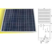 12В 18В 50Вт модуль панели солнечных батарей Поликристаллических фотоэлектрических с TUV IEC61215 IEC61730