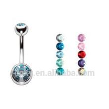 Perlas de doble joya Anillos de Barbell del ombligo Piercing Joyería