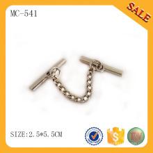 MC541 Zinc alliage usine vente directe vêtement métal chaîne étiquette