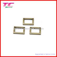 Hebilla de cobre amarillo antigua del cuadrado del metal de la alta calidad para el bolso