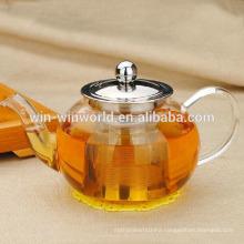 Round 900 ML Handblown Borosilicate Tea Maker Wholesale Glass Teapots