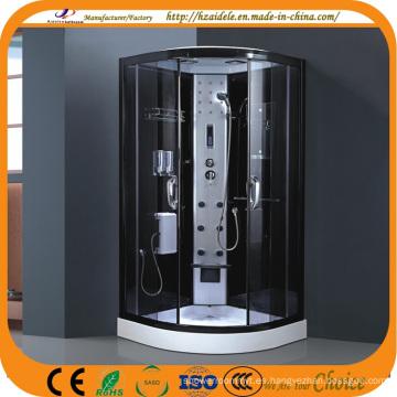 Cabina negra de la ducha del vapor de la bandeja baja del capítulo (ADL-8904)