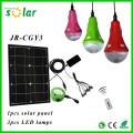 Agradable iluminación CE Inicio LED Iluminación Solar con el cargador del teléfono y bombillas LED