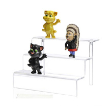 Countertop 3 Step Pop Figures Riser Stand Shelf Acrylic Tiered Display Stand