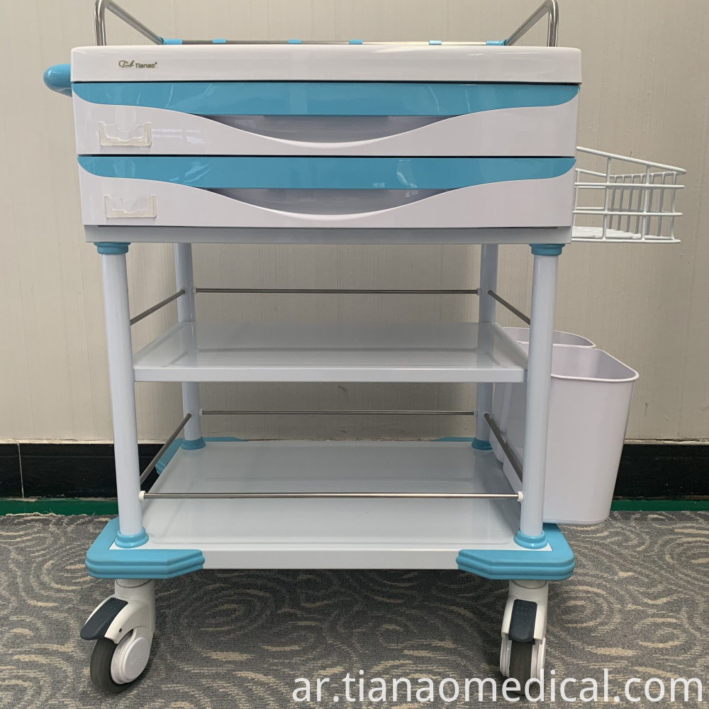 Hospital Steel ABS Practical Treatment Trolley