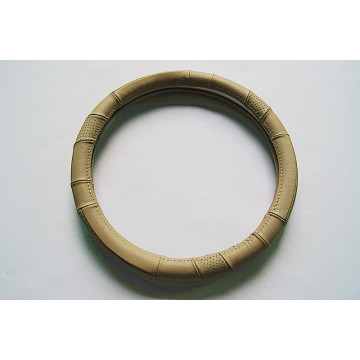 Natural animal leather steering wheel cover