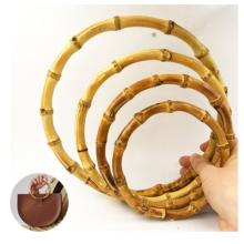 Wholesale Handbag Hardware Wooden Bag Handles Round Handmade Handle