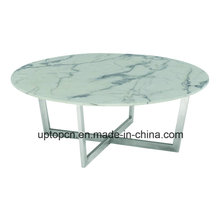 Modern Cafe Marble Table with Metal Leg for Sale China (SP-GT443)