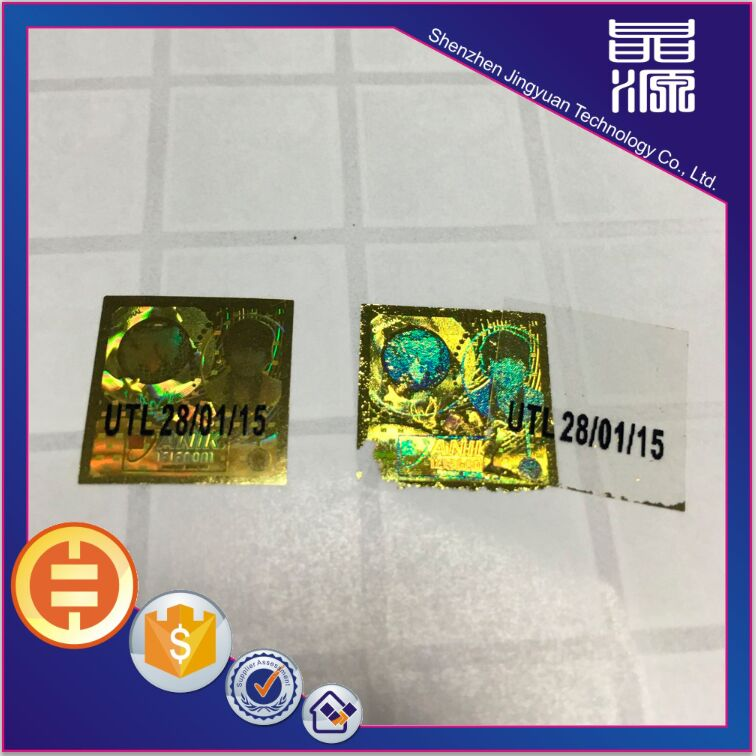 Permanent And One Off Laser Anti-counterfeiting Sticker