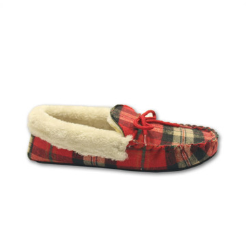 high quality fleece moccasin winter fur slippers