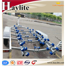 Galvanized heavy duty tandem axle boat trailer with boat trailer frame