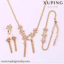 62095-Xuping Fashion Woman Jewlery engastado con oro de 18 quilates plateado