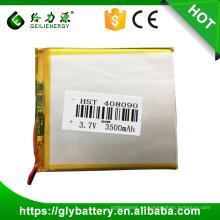 Batería de iones de litio, 3.7V 3500mAh 408090 Batería de iones de litio recargable para Tablet PC, E-book