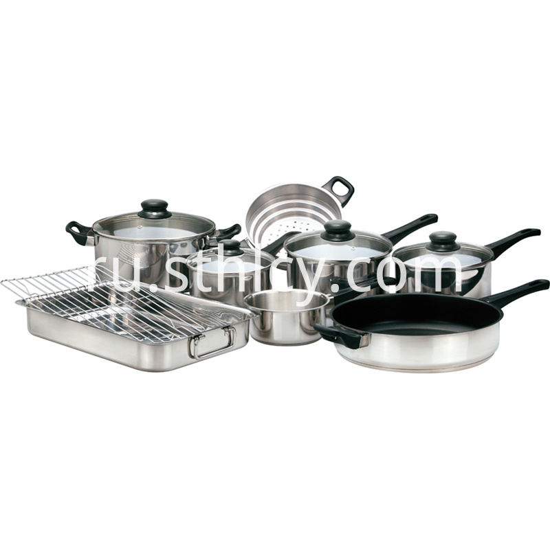 Gourmet Chef Stainless Steel Cookware Set