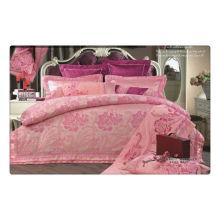 Tencel / хлопок жаккард + вышивка роскошный комплект постельного белья