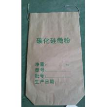 Bolsa de papel Kraft de costura inferior para polvo de carburo de silicio