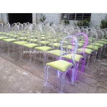 2016 stackable led pc event wedding chair XYN2759