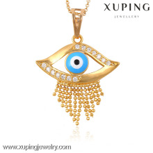32463-Xuping colgante de estilo especial joyería colgante de oro al por mayor ojo azul