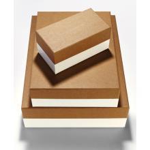 Großhandel braun Kraft Geschenkbox mit Deckel gesetzt