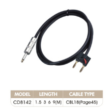 3 Male Connectors Audio Link Cable