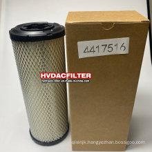 Hvdac Replace Hitachi Filters 4417516 Excavator Air Filter Element P821575 Af25551 Af25552 P822858