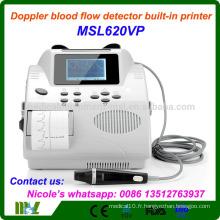 MSL620VP-i Détecteur de débit sanguin Doppler approuvé par la CE, imprimante portable Doppler vasculaire portable intégrée