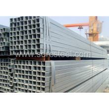 Tuyau d'acier pré-galvanisé Squqre structurel en carbone