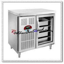 R254 1 Glass Door Luxurious Fancooling Tray Undercounter Refrigerator