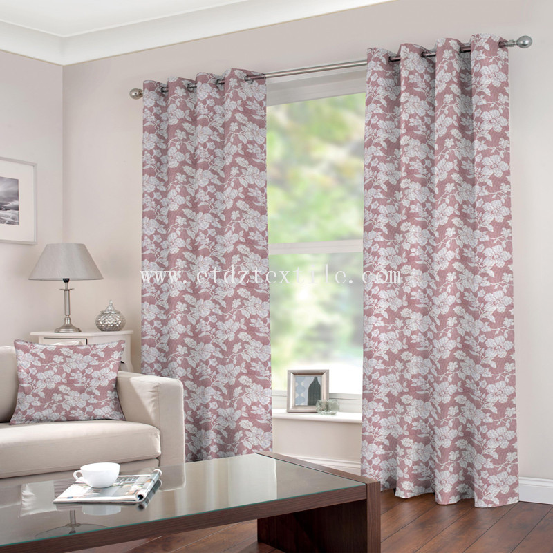 Beautiful stria flower curtain fabric