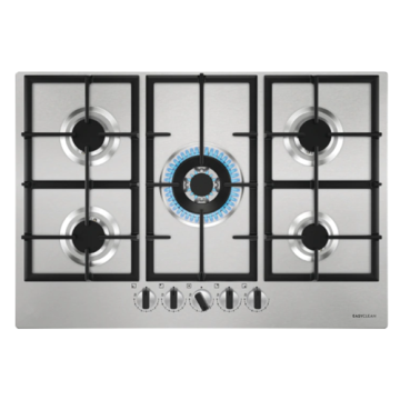 Plato Gas 75cm Smeg Integrado Inoxidable