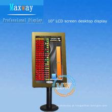 área de trabalho 10,2 polegadas lcd display para casino