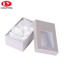 Caja de brazalete de papel brillante perla inserción de satén
