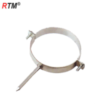 Metric steel single pipe clamps with screw