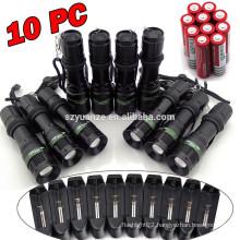 2015 china supplier Adjustable focus led flashlight aluminium flashlight led flashlight