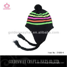 Chapeau en tricot de fantaisie d'hiver populaire personnalisé